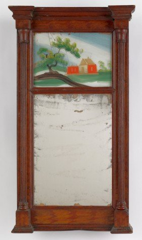 Federal Painted Mirror, Ca. 1820, 27'' L., 14 1/2'