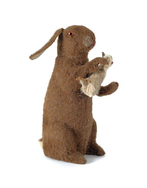 289: German mohair rabbit candy container, ca. 1900, 1