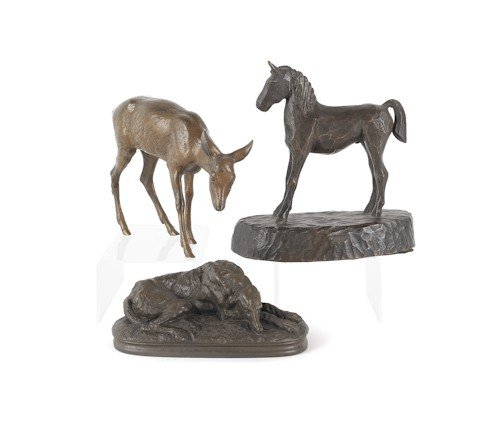 716: Dick Ford, bronze of a foal, dated 1935, 6 1/4''