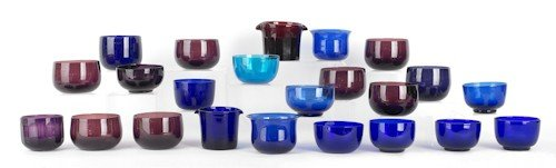768: Collection of cobalt and amethyst finger bowls an