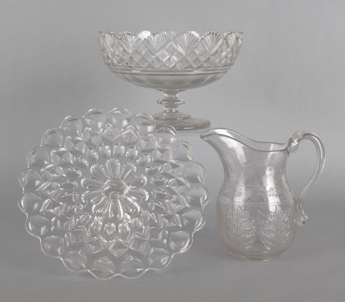 773: Bakewell, Pears & Co. Victoria glass cake stand,