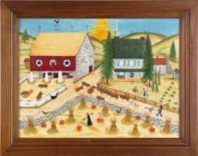 William Rank (American, 1921-2001), Oil On Velvet