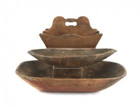 Miscellaneous Woodenware, 19th C., To Include A C
