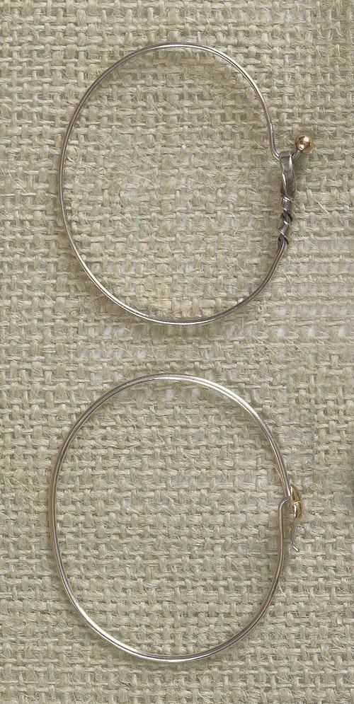 816: Tiffany & Co. 18K gold and sterling bracelet, tog