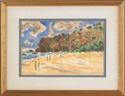 824: John MacGregor (British, b. 1944), two watercolor