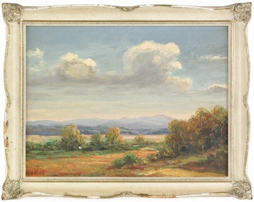 833: J.H. Hallberg (American, 20th c.), landscape, sig