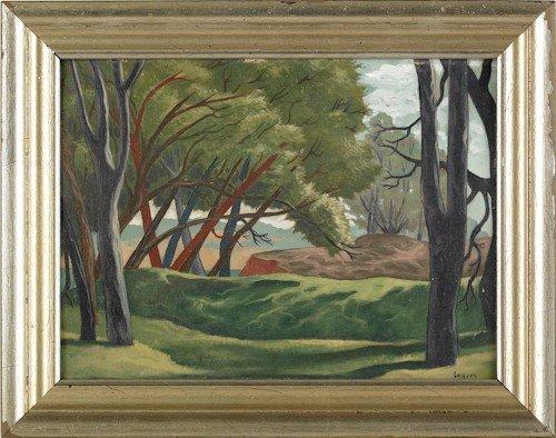 836: Francis Colburn (American, 1909-1984), oil on boa