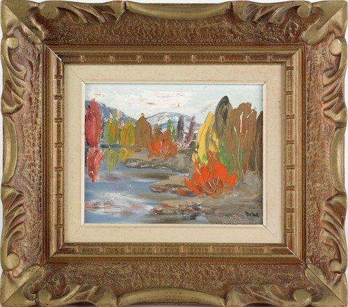838: Gregory Naha, acrylic on board landscape, 8'' x 10