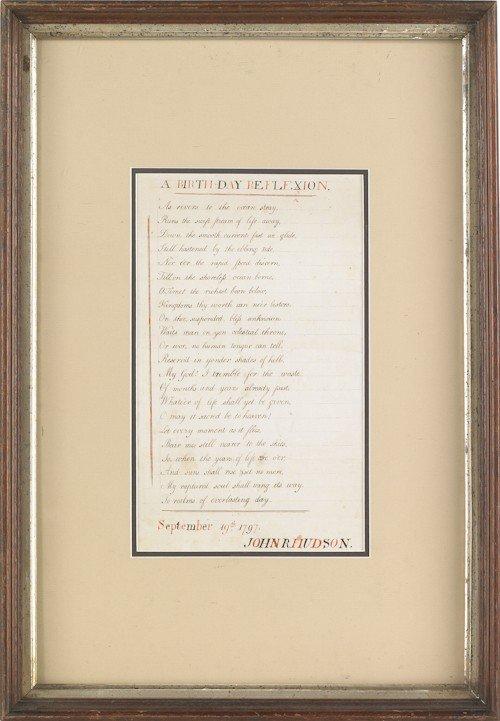 843: Poem titled Birthday Reflextion, dated Sept. 1