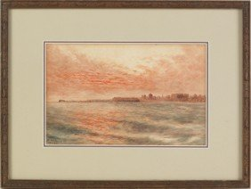 Two Watercolors, Signed W. Struthers, And Dated