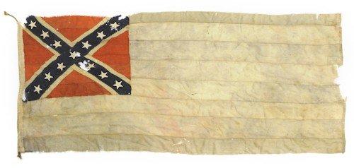 1097A: Confederate civil war flag, 48'' x 104''.