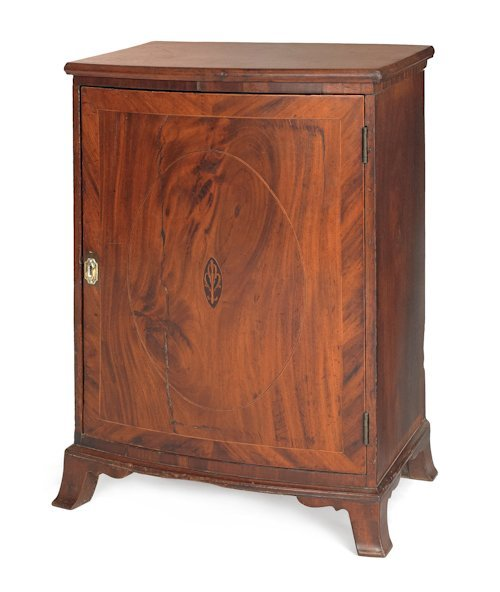 1: Chester County Federal mahogany veneer valuables