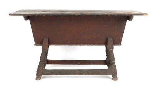 5: Pennsylvania poplar dough box on stand, ca. 1760