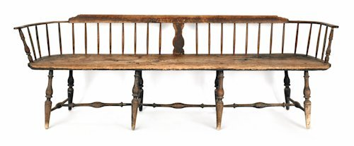 12: Delaware Valley Windsor bench, ca. 1770, with a