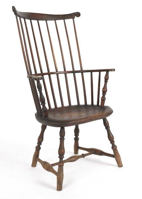 13: Philadelphia Windsor armchair, ca. 1765, with a