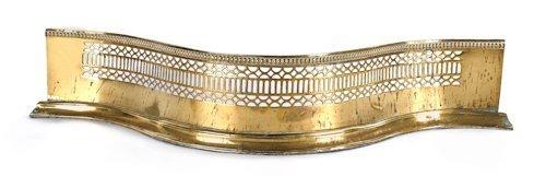 16: George III brass serpentine fire fender, ca. 176
