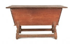 Pennsylvania Walnut Dough Box On Stand, Ca. 1770
