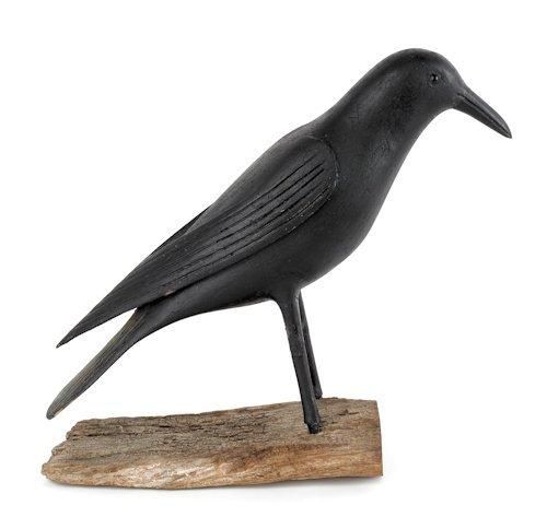 51: Crow decoy, ca. 1870, made by Warren Scott, Bu