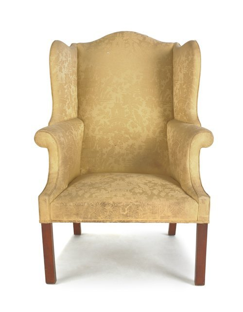 59: American Chippendale style walnut easy chair, 3