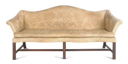 61: Delaware Valley Chippendale walnut sofa, 19th c.