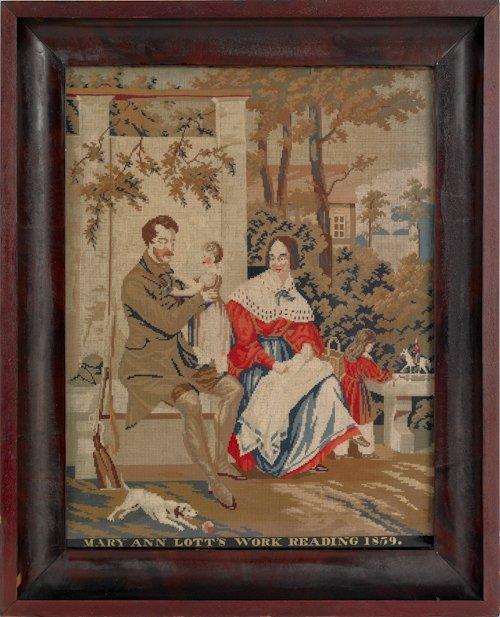 204: Reading, Pennsylvania Berlin work embroidery, da