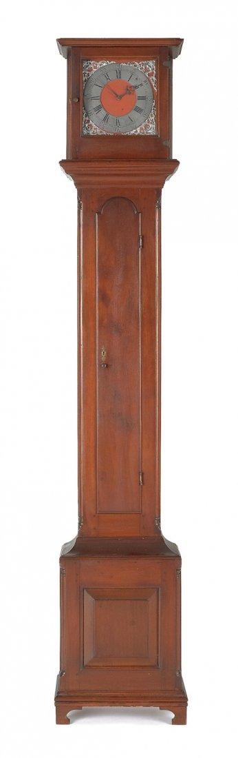 205: Lancaster, Pennsylvania Queen Anne walnut tall c