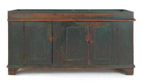 279 Large Pennsylvania Painted Dry Sink 19th C W
