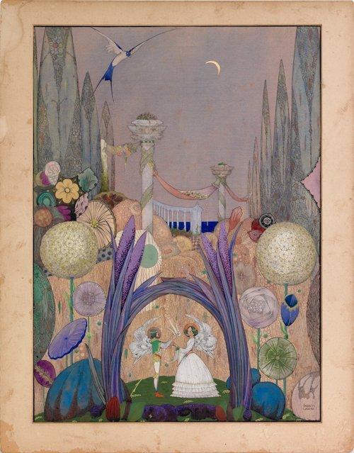 488: Harry Clarke (Ireland, 1889-1931), mixed media