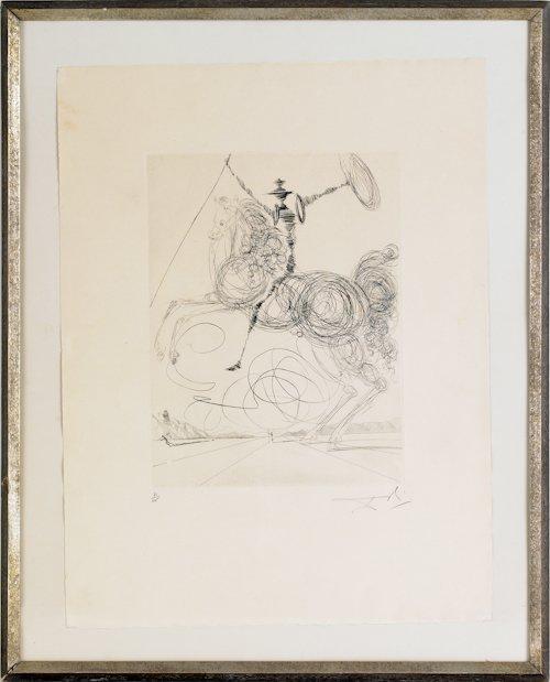 490: Salvador Dali (Spanish, 1904-1989), drypoint of