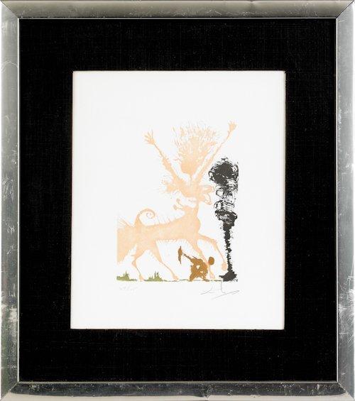 491: Salvador Dali (Spanish, 1904-1989), color litho