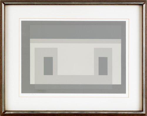 492: Josef Albers (American, 1888-1976), silkscreen
