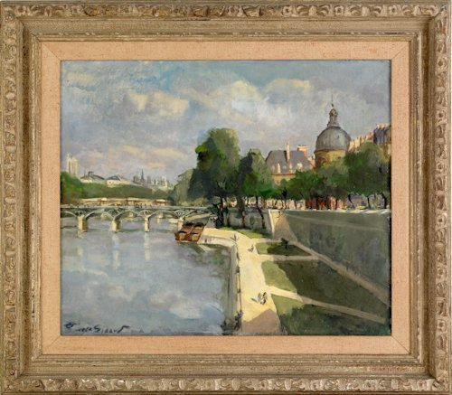 496: Pierre Sicard (French, 1900-1980), oil on canva