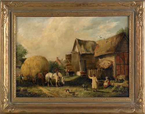 497: Arthur James Stark (English, 1831-1902), oil on