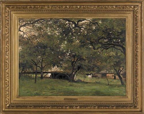 498: Cesar De Cock (European, 1823-1904), oil on can
