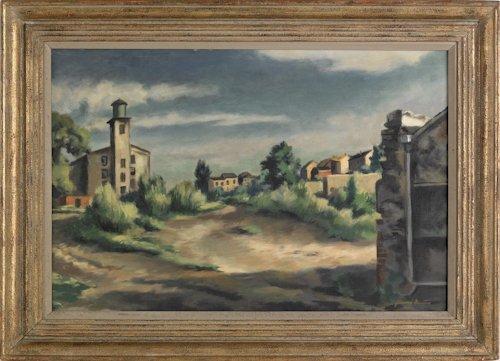 500: Giovanni Martino (American, 1908-1998), oil on