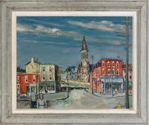 502: Walter Emerson Baum (American, 1884-1956), oil
