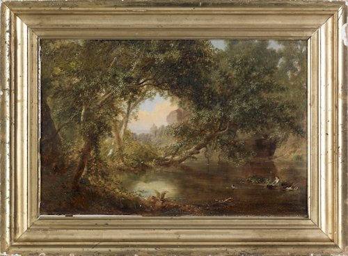 506: Russell Smith (American, 1812-1896), oil on can