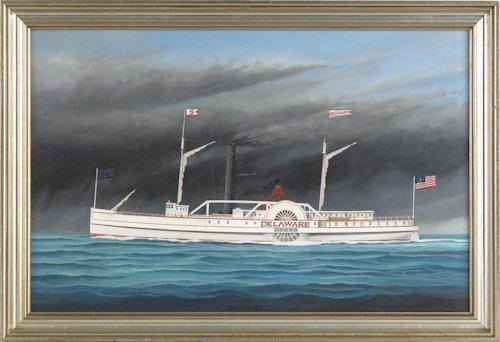 511: Scott Cameron (American, 1946-), oil on canvas
