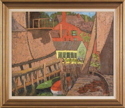 553: Yarnall Abbott (American, 1870-1938), oil on ca
