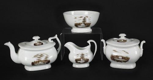 636: Philadelphia Tucker four-piece tea service, ca.