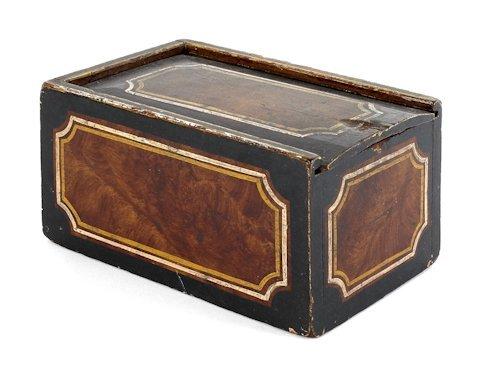 643: Pennsylvania painted pine slide lid box, ca. 184