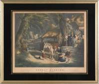 910 N Currier colored lithograph titled Sunday M