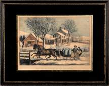 930 Currier  Ives small folio lithograph titled