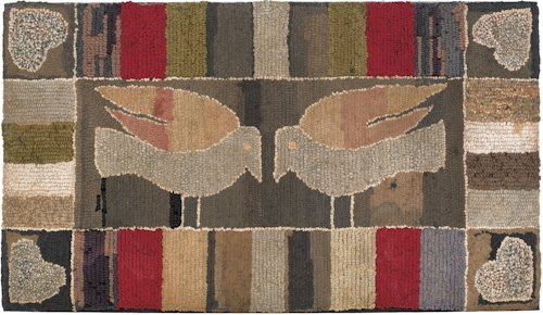 9: American hooked rug, late 19th/early 20th c., t