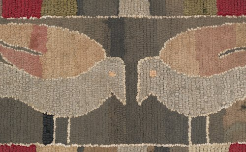 9: American hooked rug, late 19th/early 20th c., t - 2