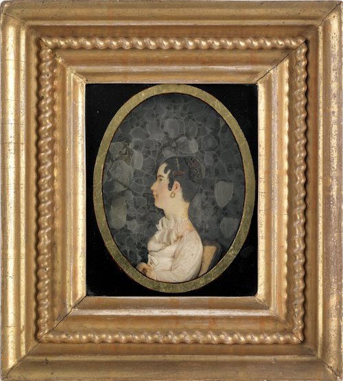 21: Philadelphia high relief wax profile portrait of