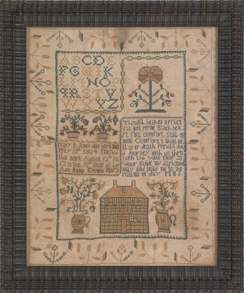 30: Trenton, New Jersey silk on linen needlework sam