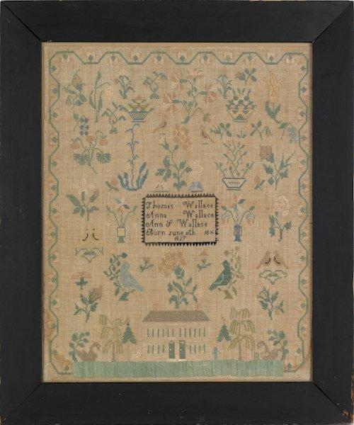 31: Burlington County, New Jersey silk on linen need