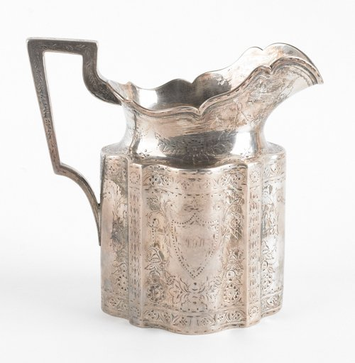 53: Gale & Willis, New York silver cream pitcher, da