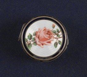 Austrian Silver And Enamel Snuff Box, 19th C.,